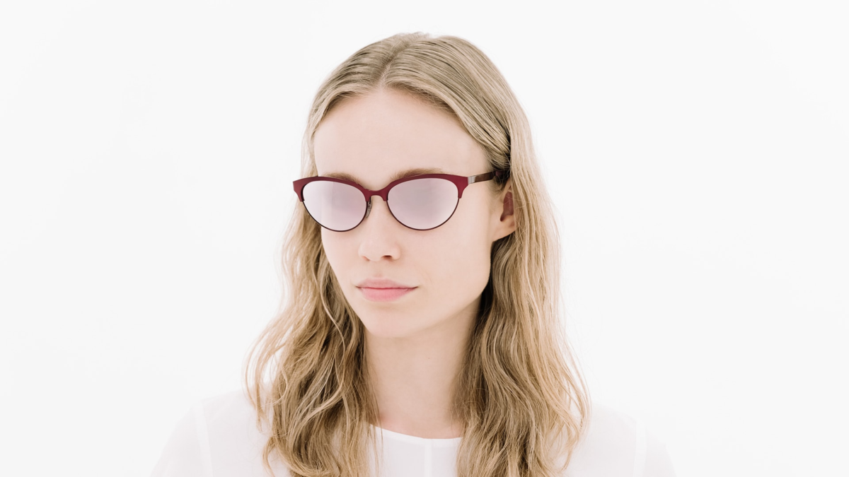 neubau eyewear lotte red